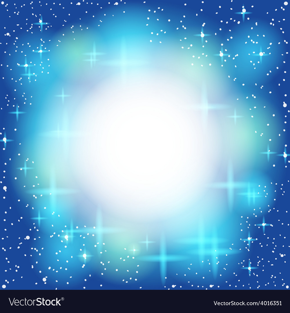 Blue Abstract Background Light Shiny Star Frame