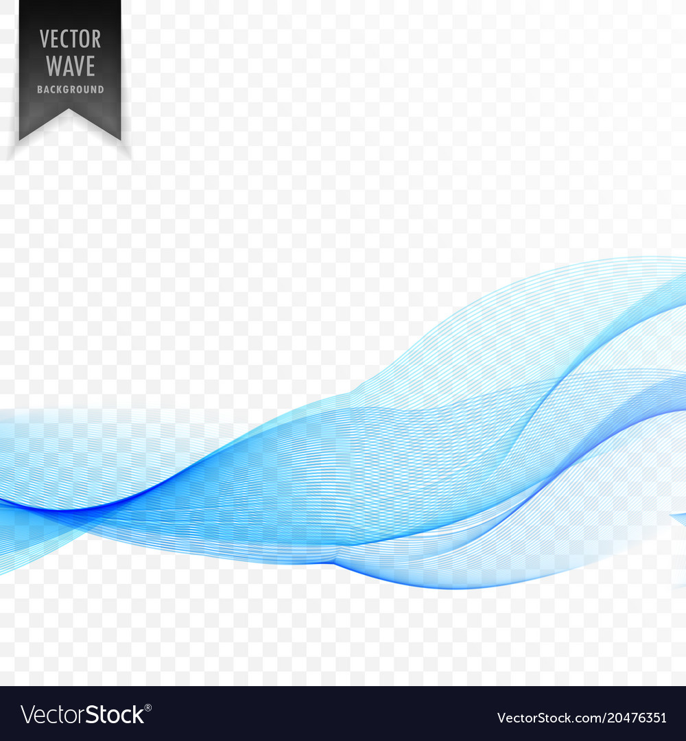 Clean smooth blue wave background vector image
