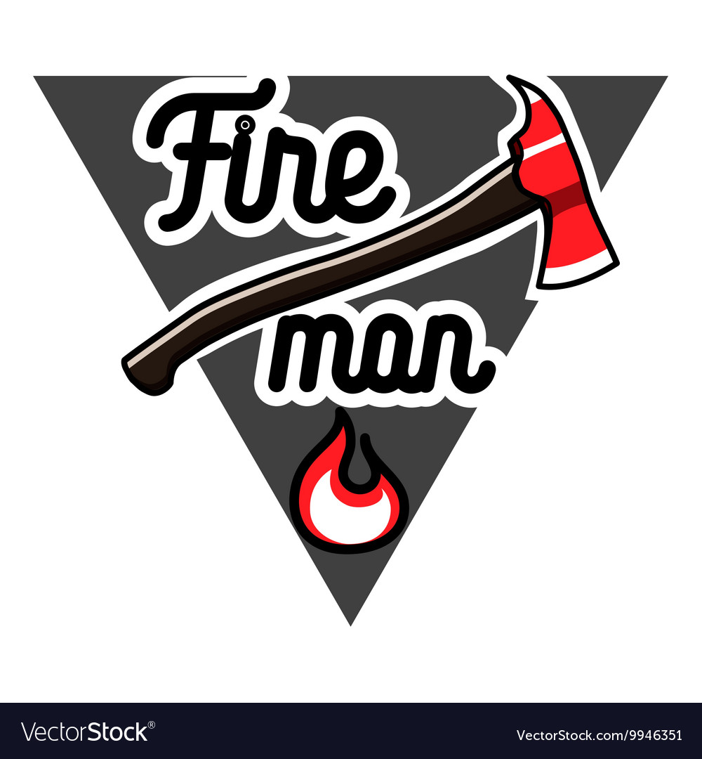Color vintage fireman emblems vector image