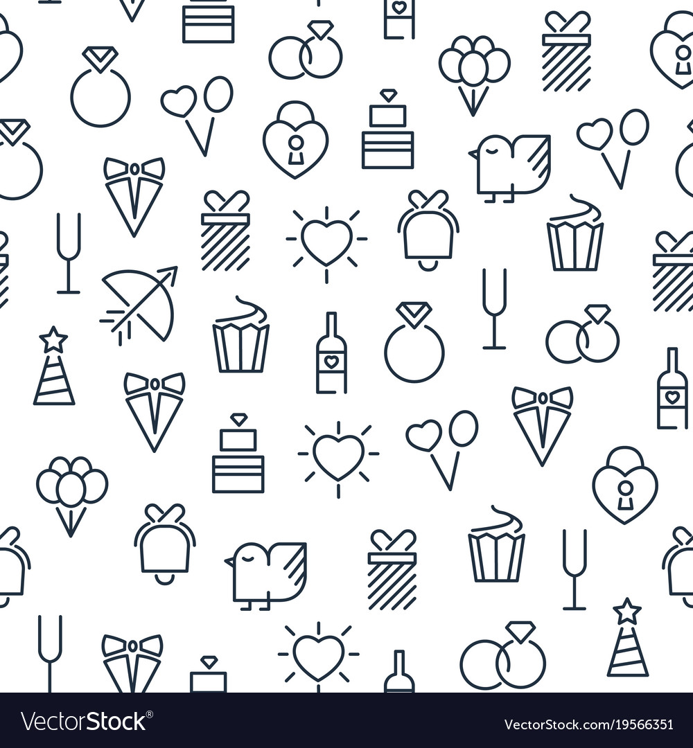 Festive light seamless pattern