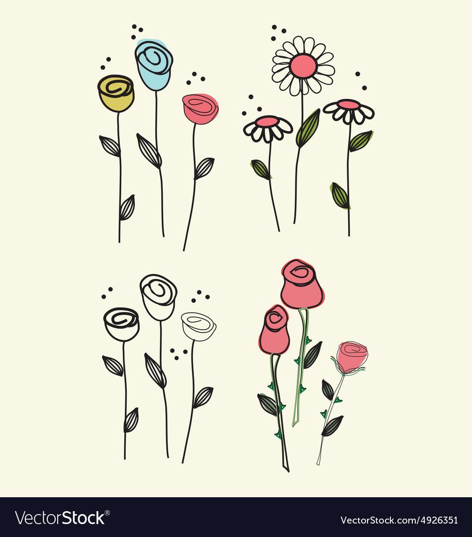 Flower scribble drawing
