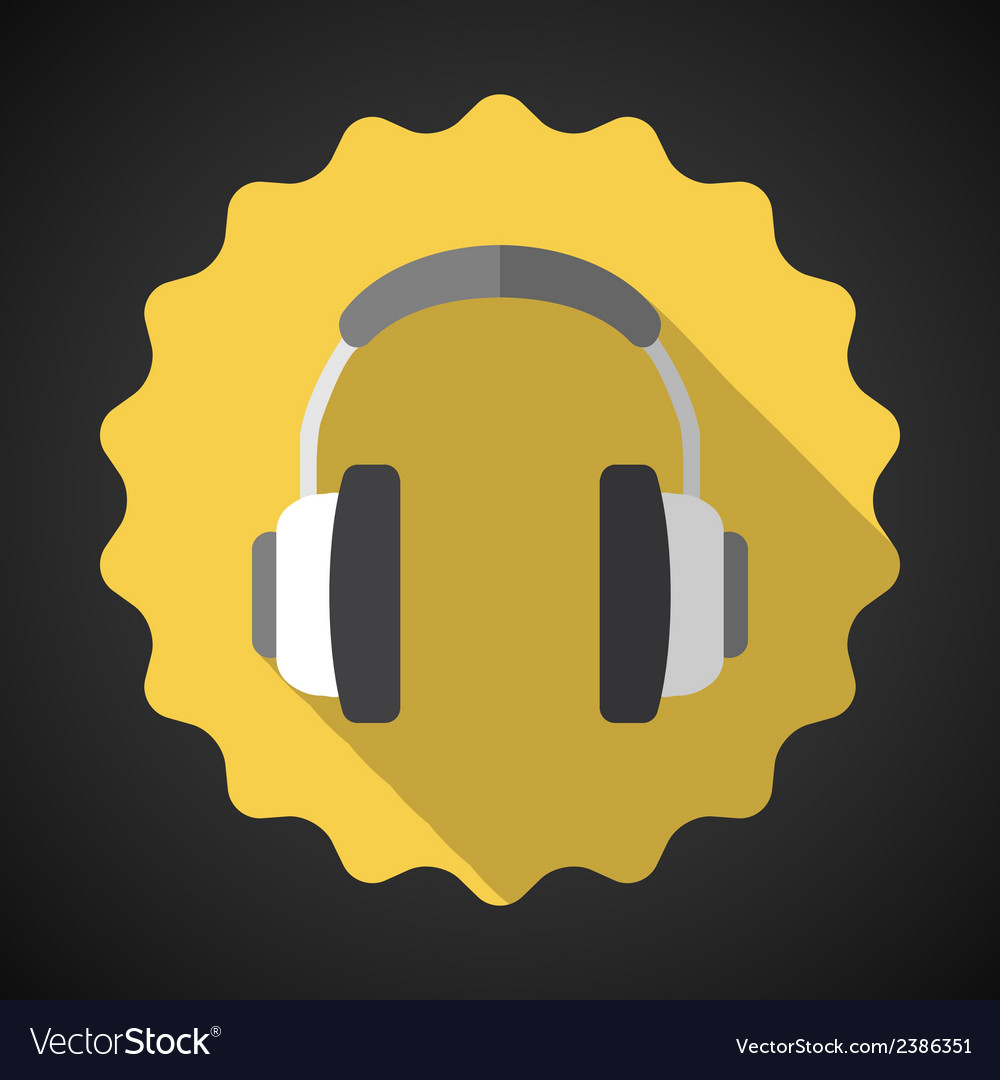 Music Headphones Earphones Flat Icon
