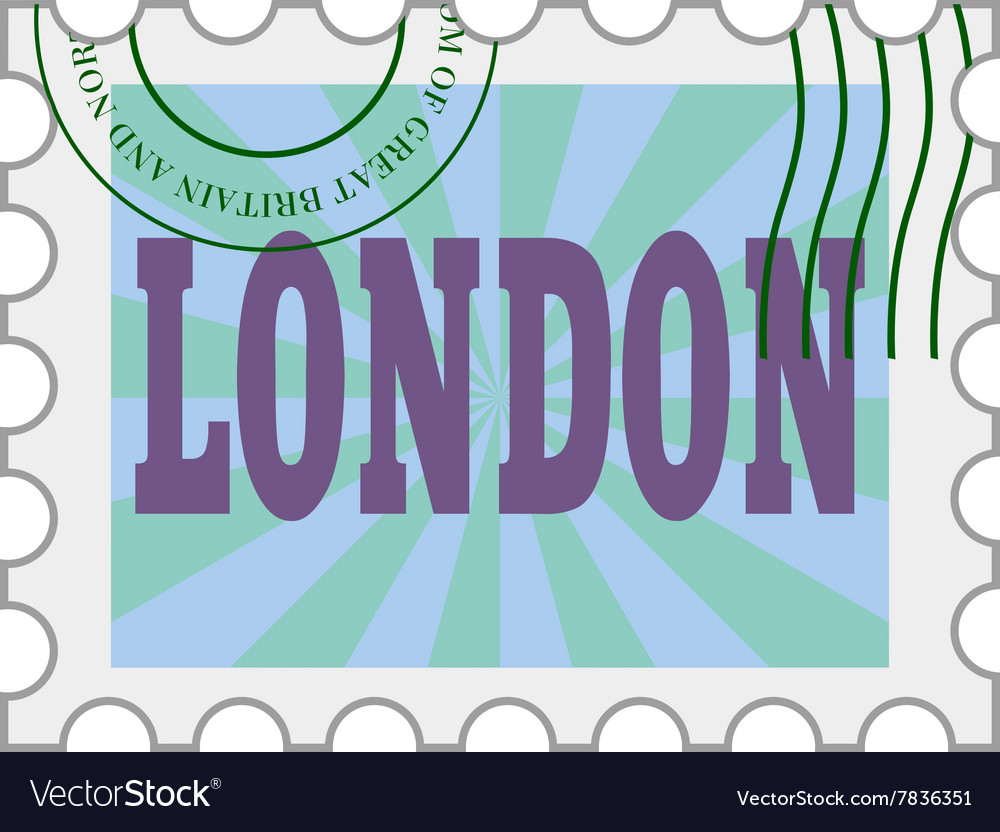 Post stamp of London