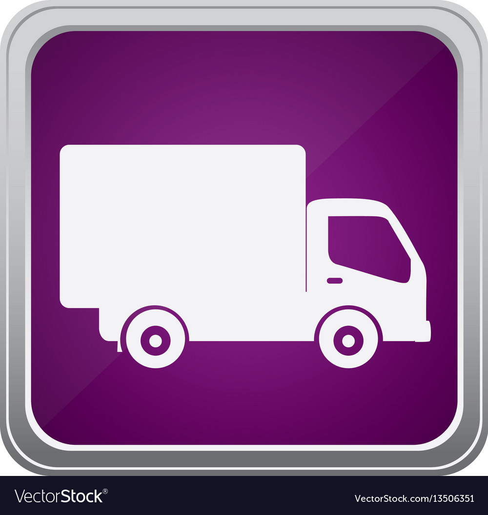 Purple emblem delivery car icon