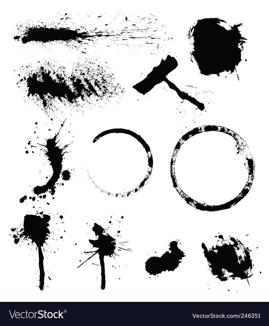 Splats vector image