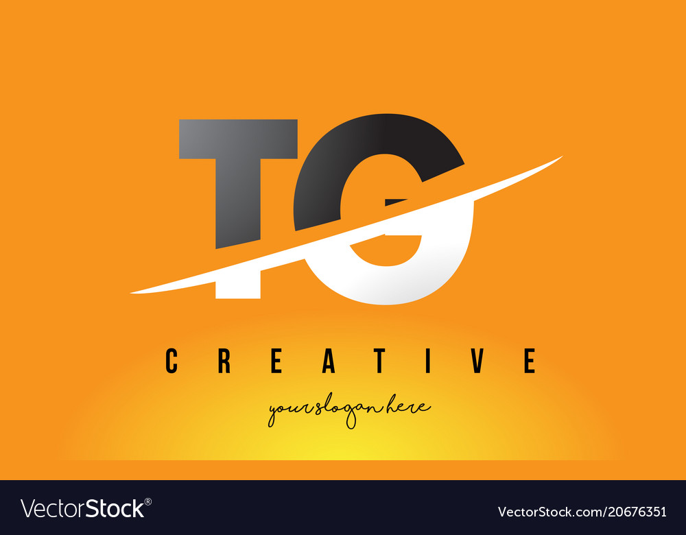 Tg T G Letter Modern Logo Design With Yellow