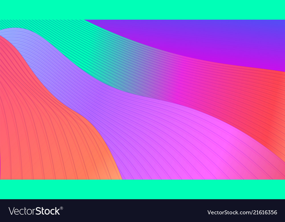 Abstract bright background with waves and gradient