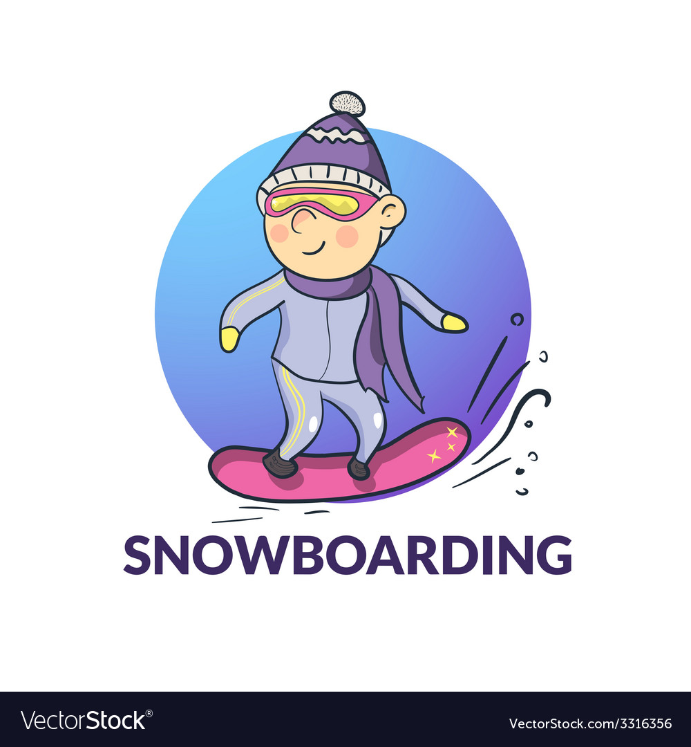 Cartoon snowboarder
