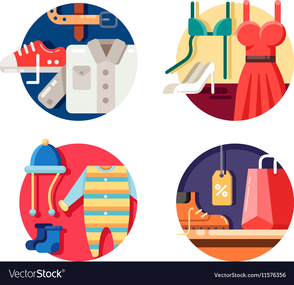 Man woman and childrens clothing vector image
