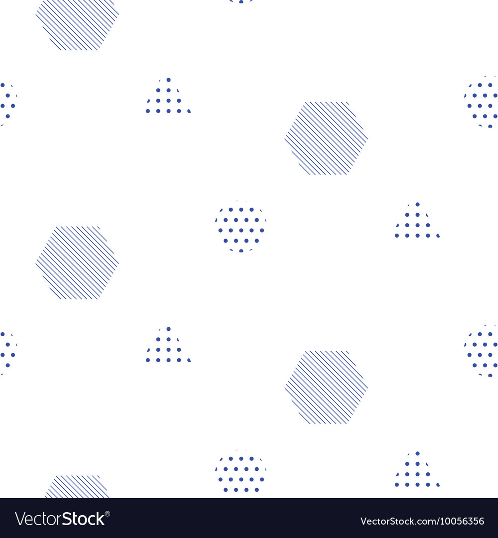 Memphis style seamless pattern with