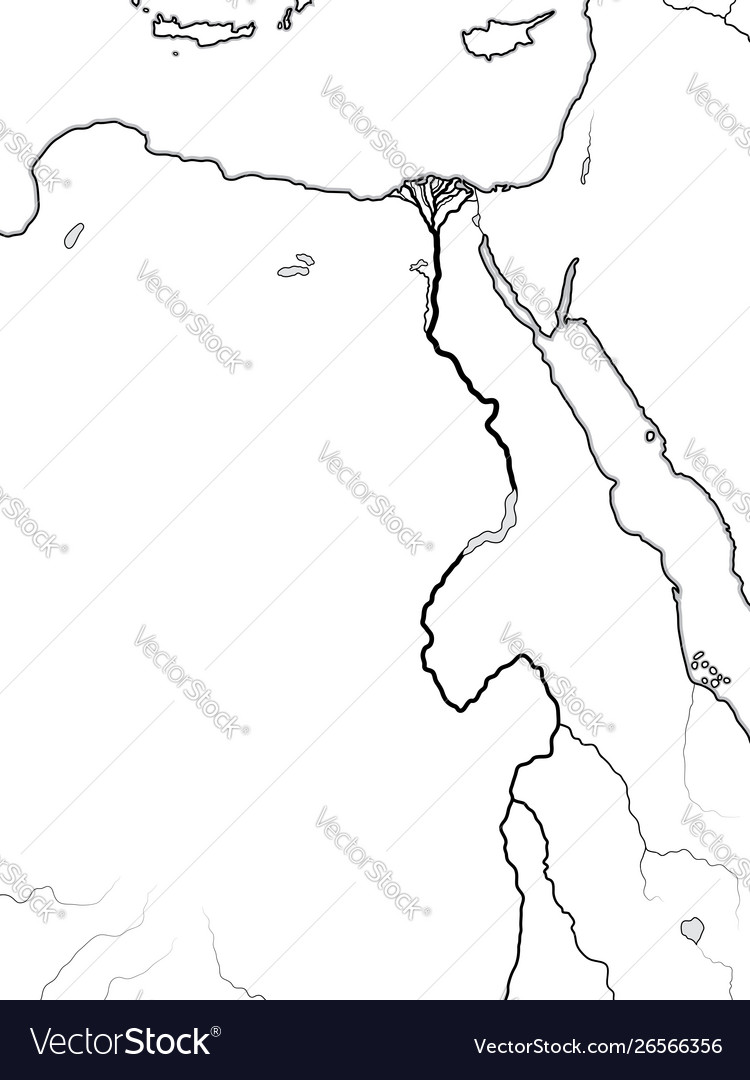 World Map Egypt Nubia Libya Ancient Egypt Vector Image