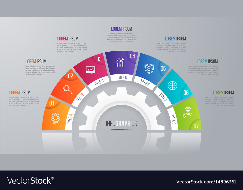 Circle chart template for infographics 7