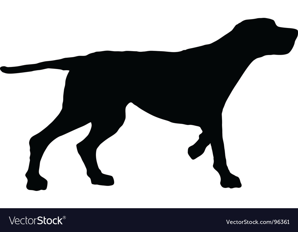 dog silhouette royalty free vector image vectorstock rh vectorstock com dog cat silhouette vector free dog head silhouette vector