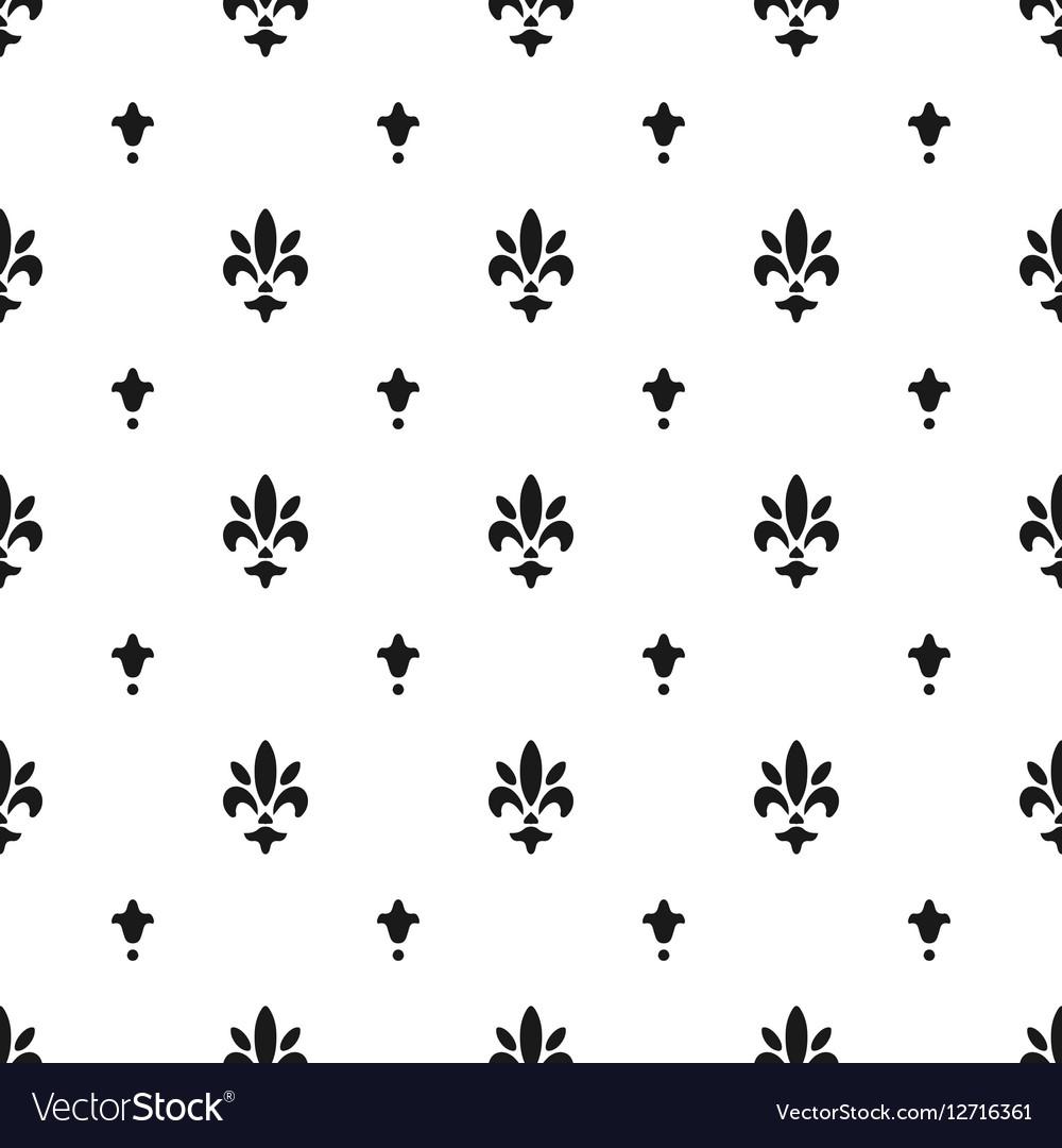 Fleur De Lis Pattern Silhouette Heraldic Symbol Vector Image
