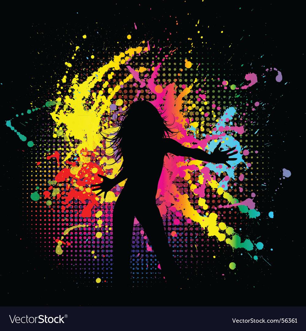 Grunge female vector image