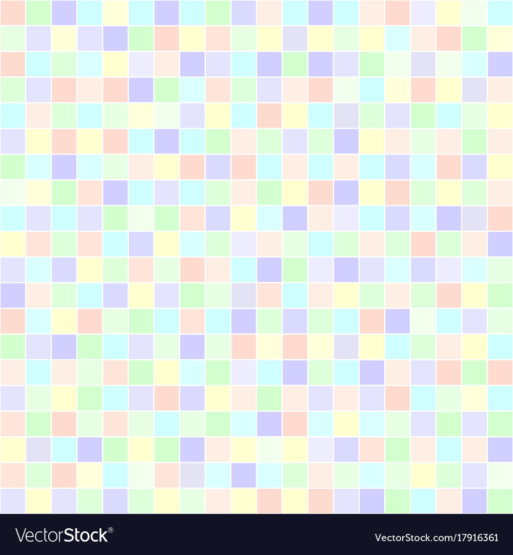 square pattern pastel seamless tile background vector image
