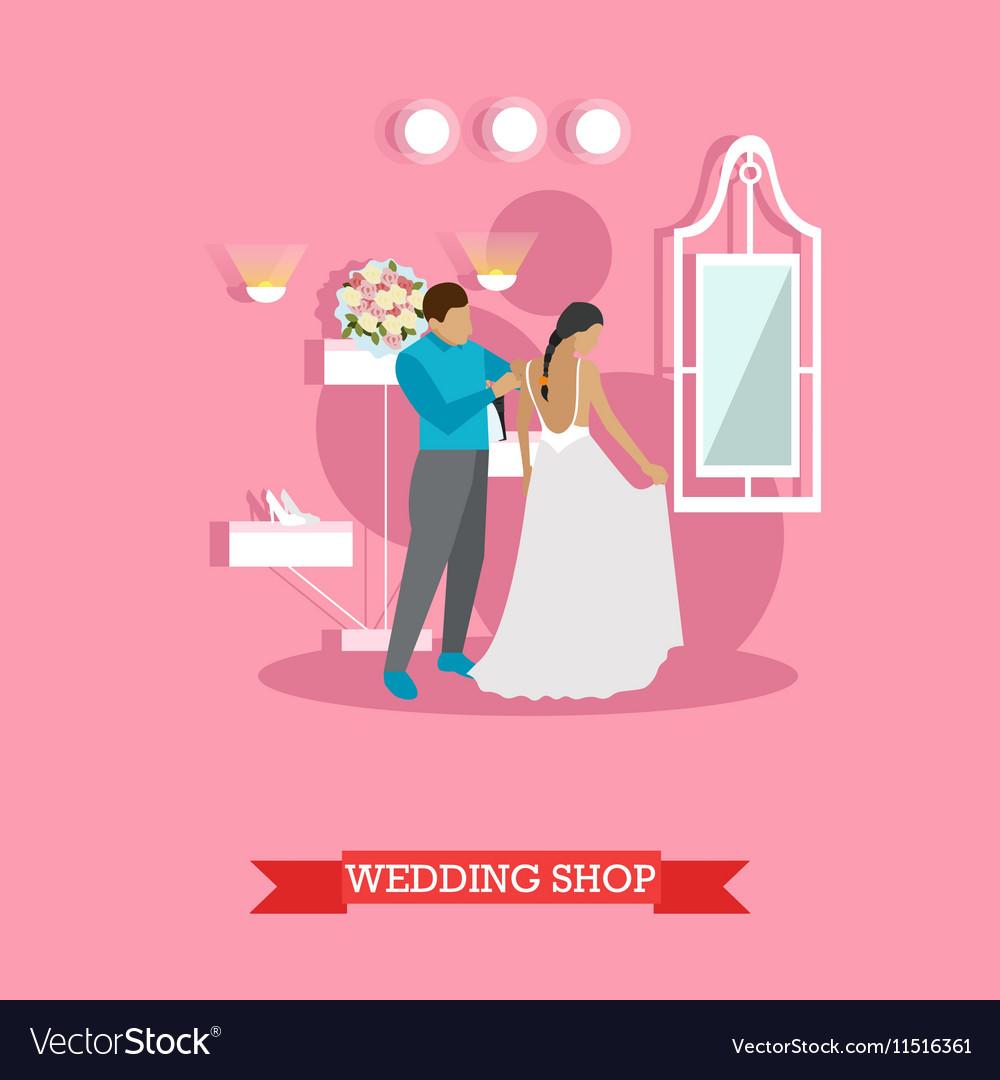 Wedding shop interior