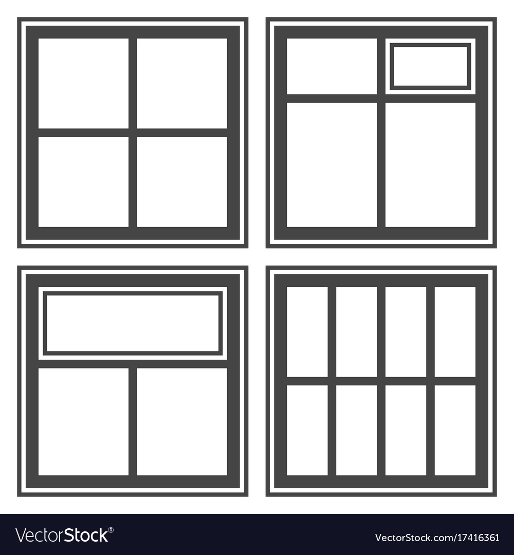 Window icon set sign symbol