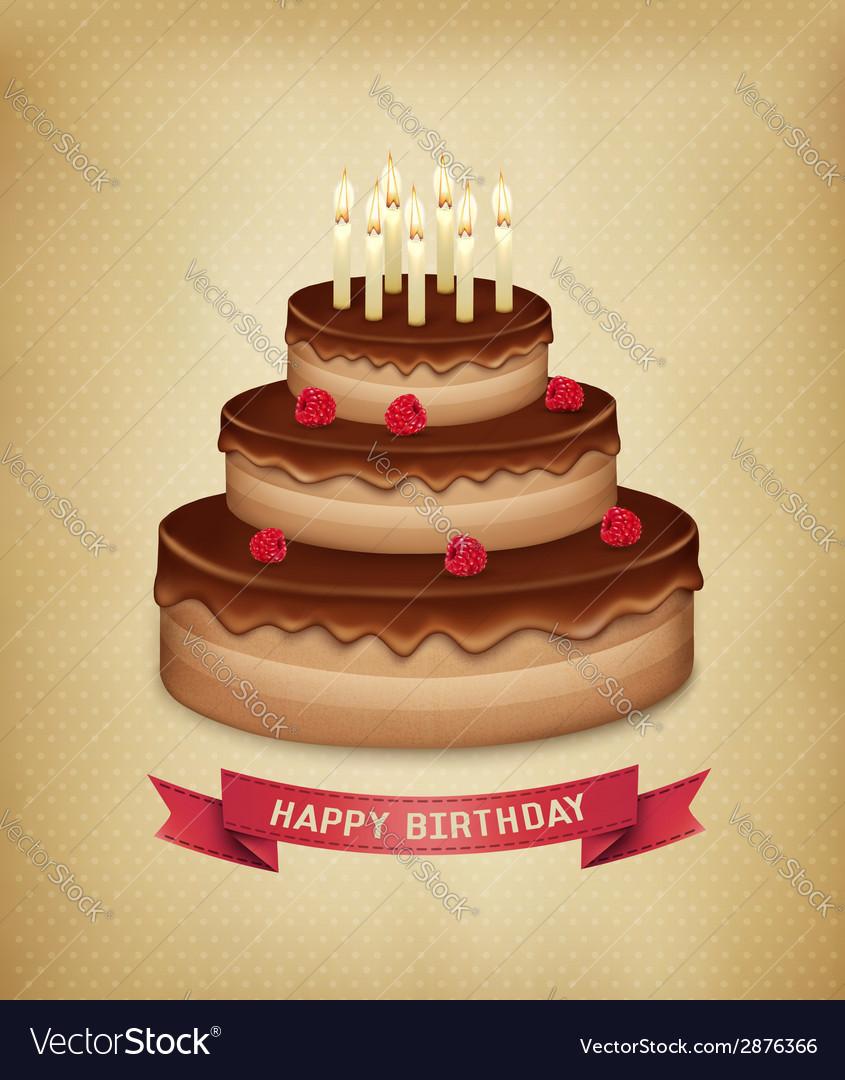 Background with birthday chocolate cake