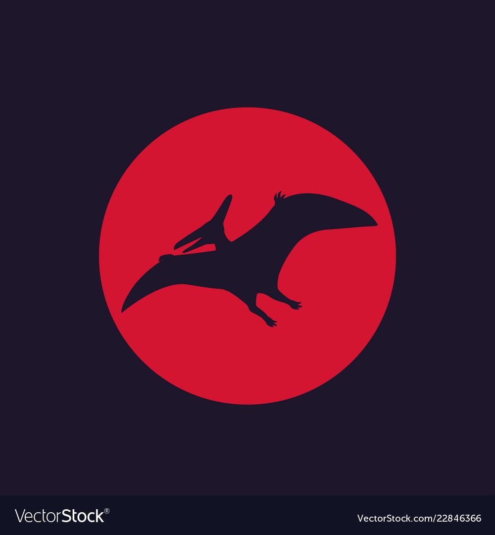 Dinosaur pterodactyl pteranodon Royalty Free Vector Image 0675cec4e