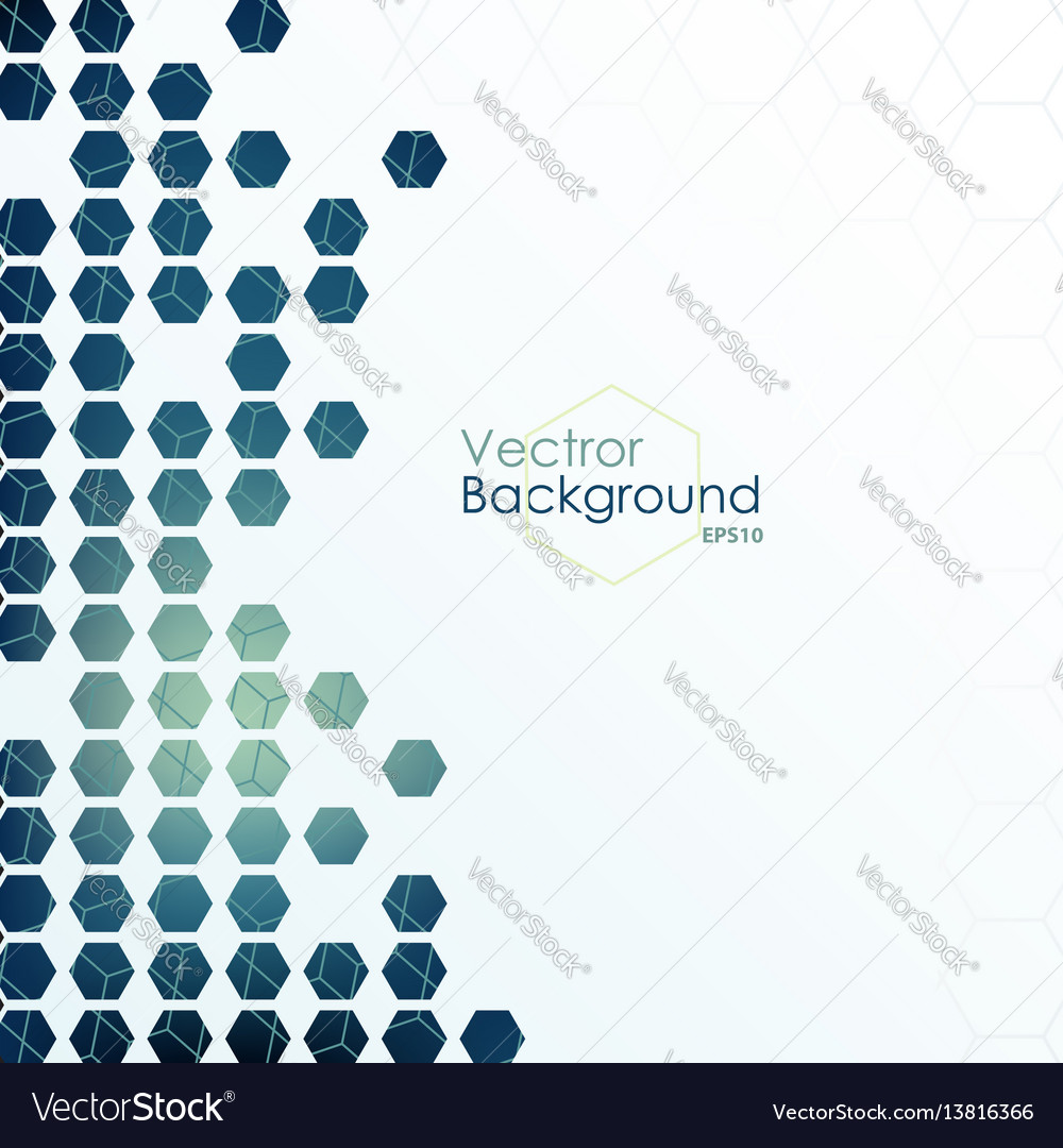 Hexagon designed background