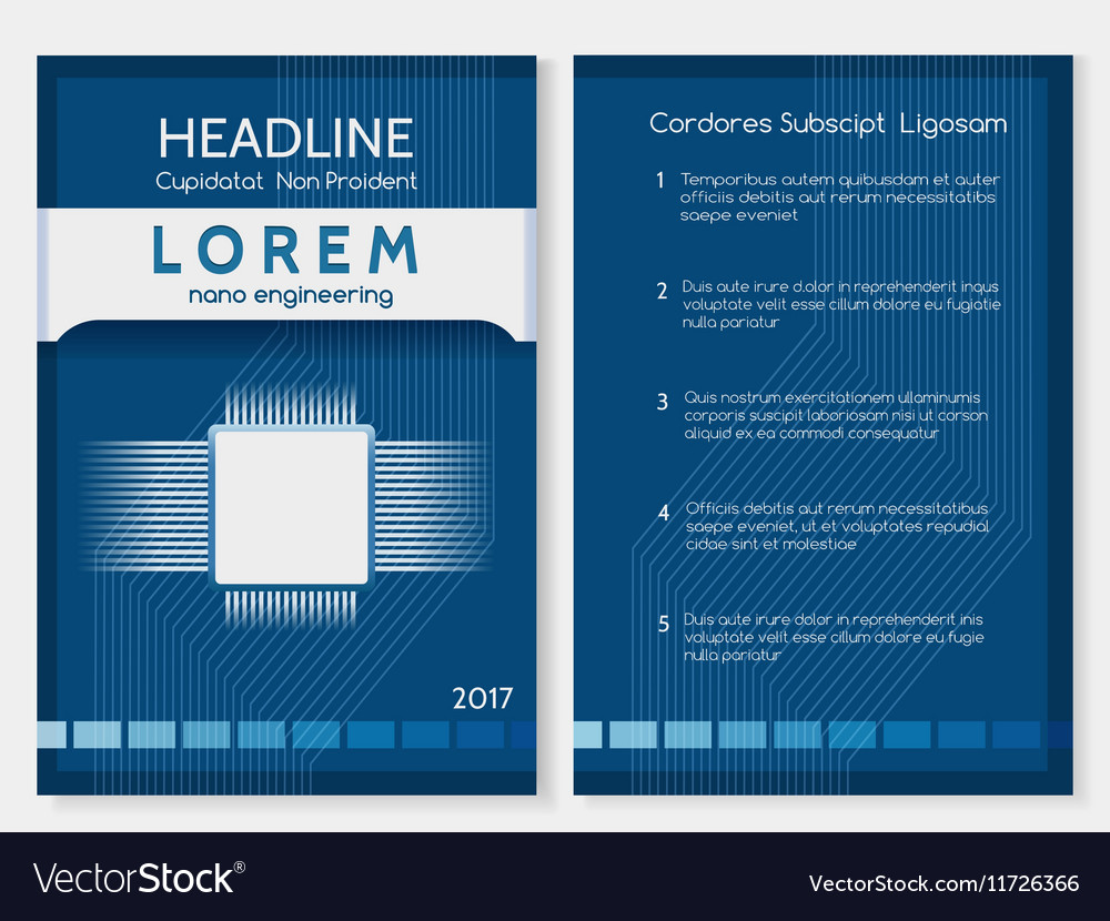 Industrial Technology Brochure Or Booklet Template