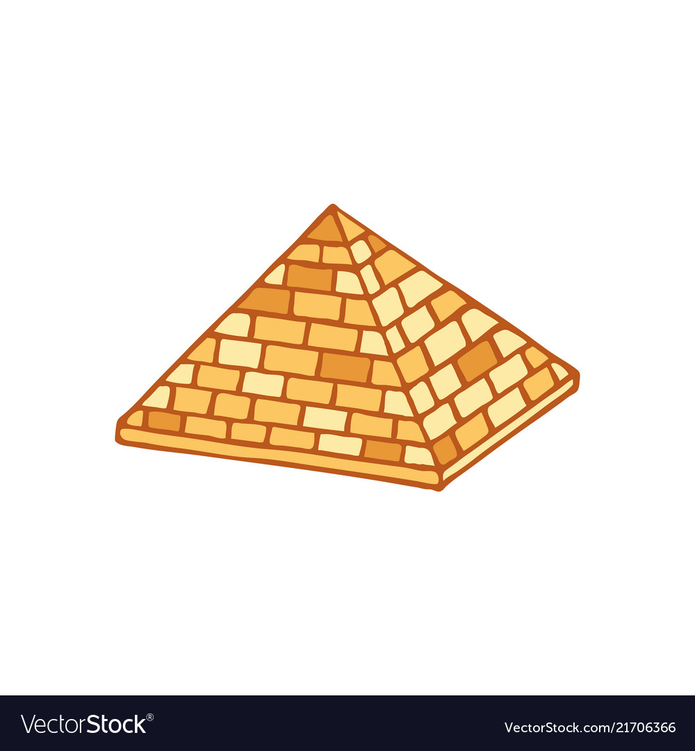 Pyramid of ancient egypt of blocks ethnicity