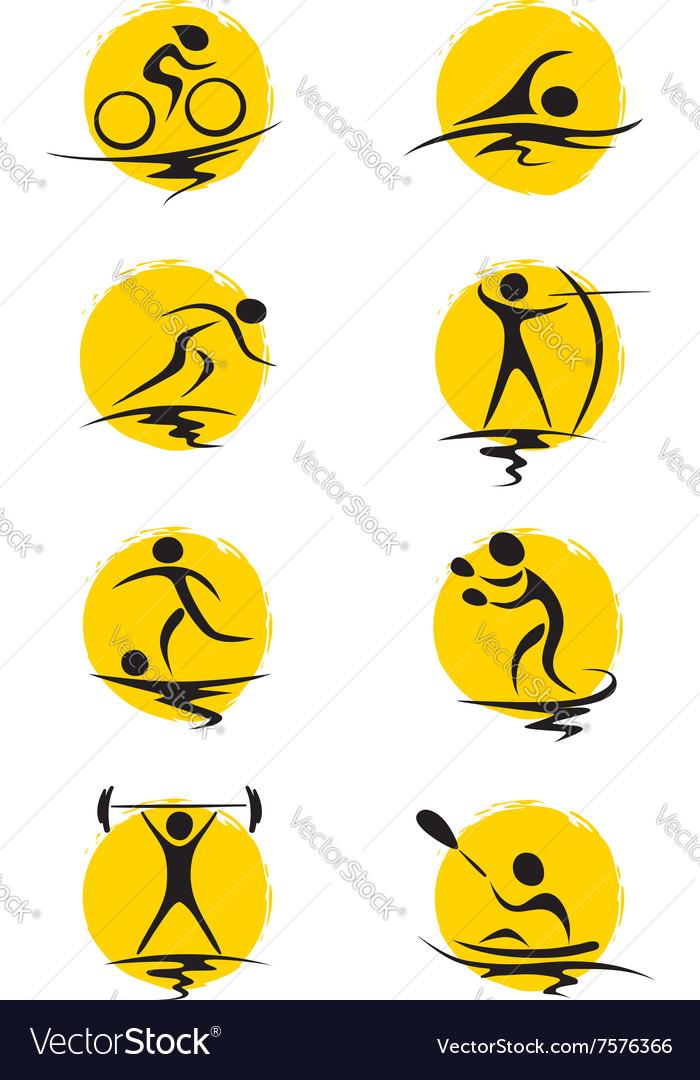Set - summer sports vector image