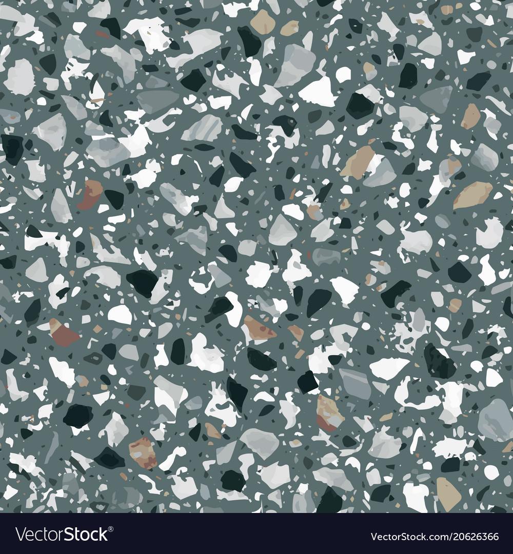 Terrazzo Flooring Seamless Pattern Royalty Free Vector Image