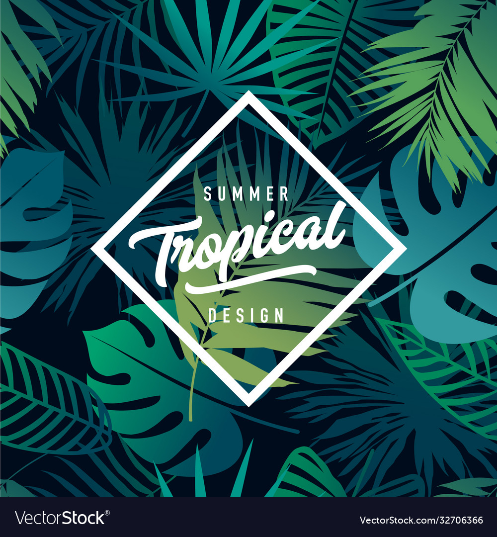 Tropical banner design