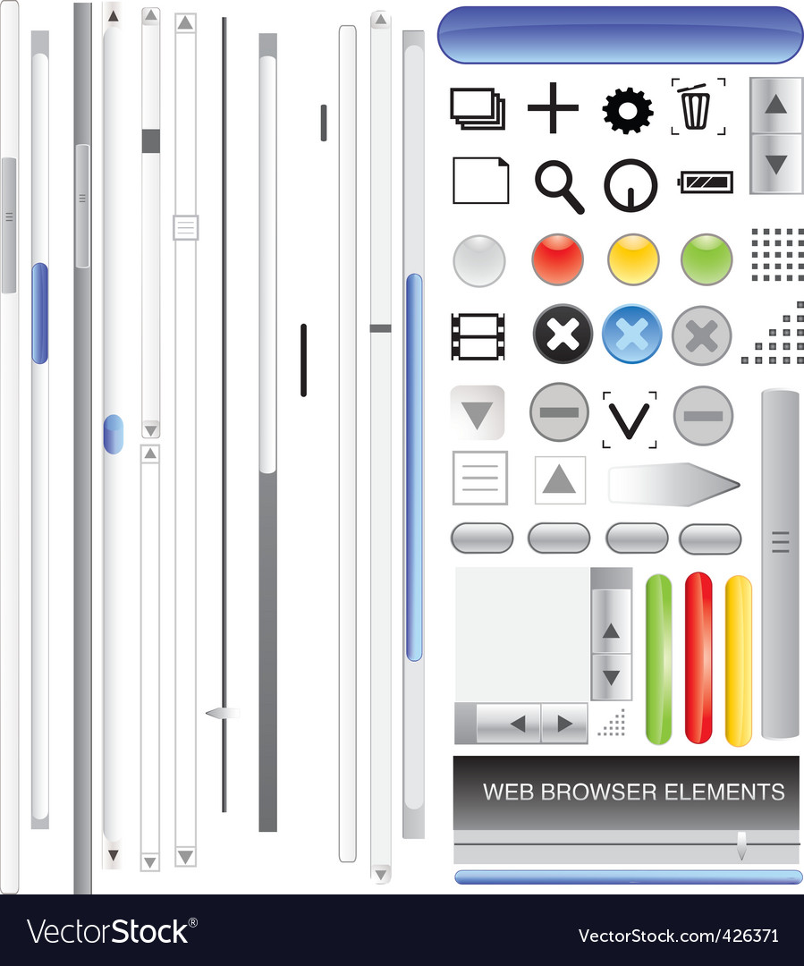 Browser bars vector image