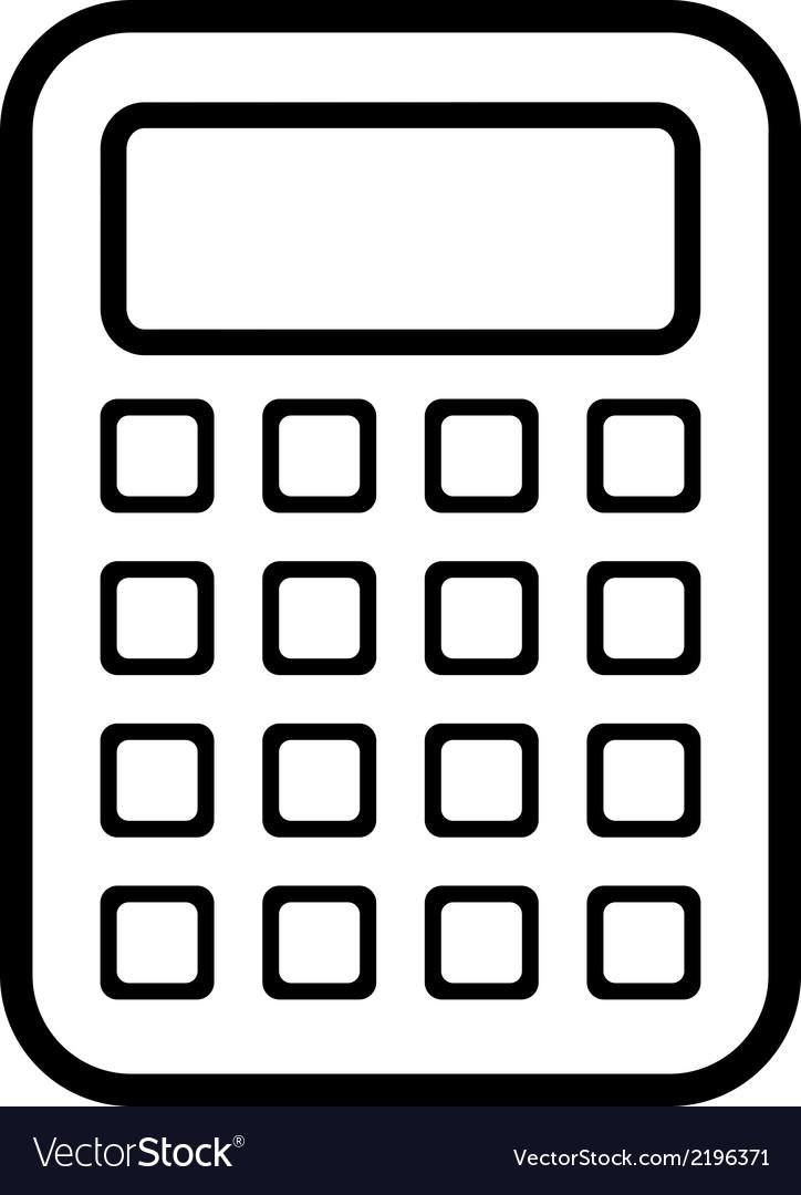 calculator icon royalty free vector image vectorstock