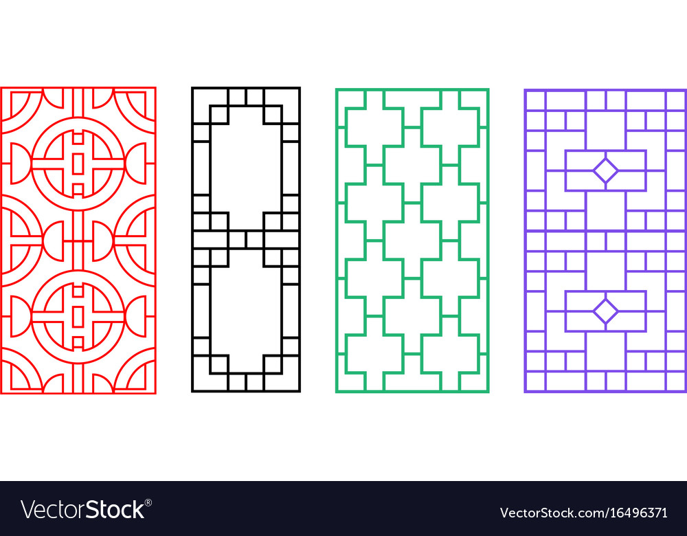 Chinese Fence Design Chinese ornament for door window wall and fence vector image workwithnaturefo