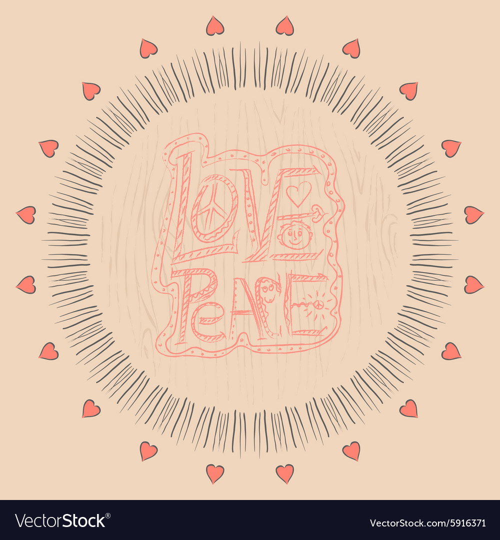 Mandala Love and peace vector image