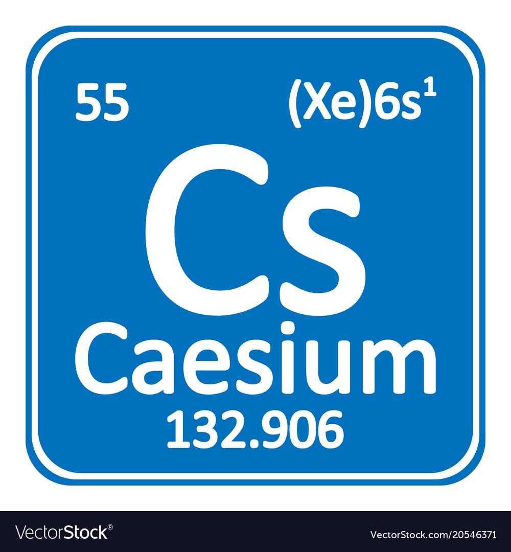 Periodic table element caesium icon royalty free vector periodic table element caesium icon vector image urtaz Gallery