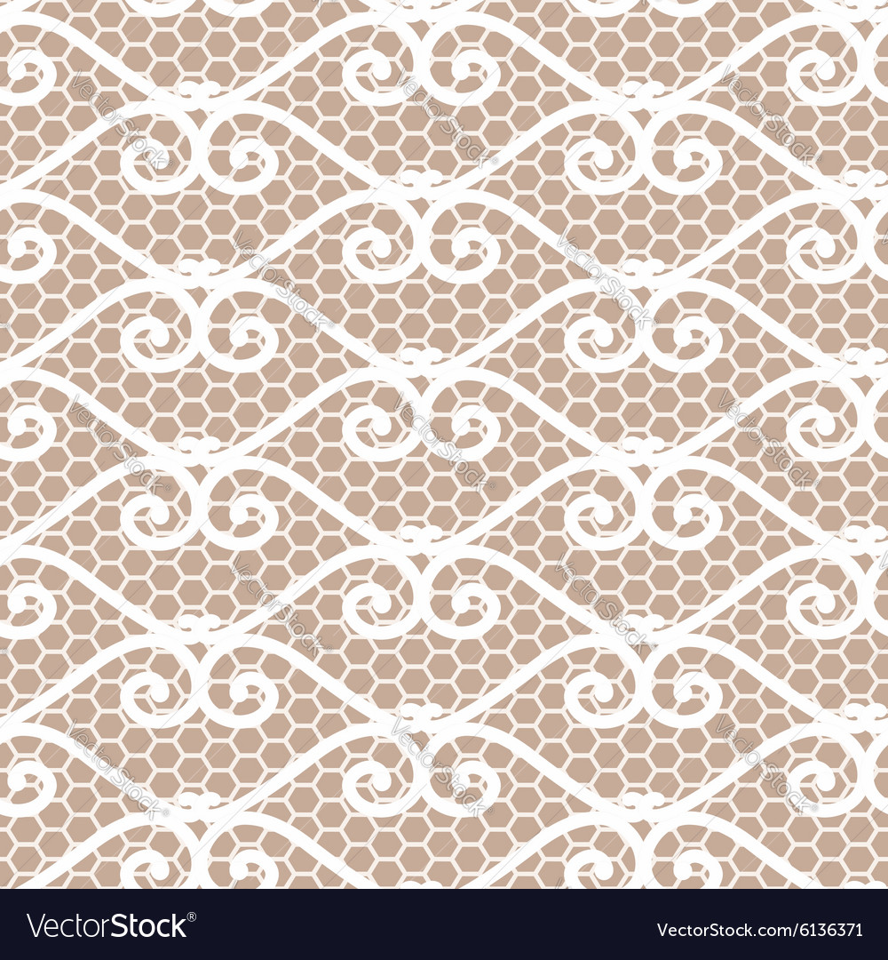 Seamless repeating lace pattern vector image