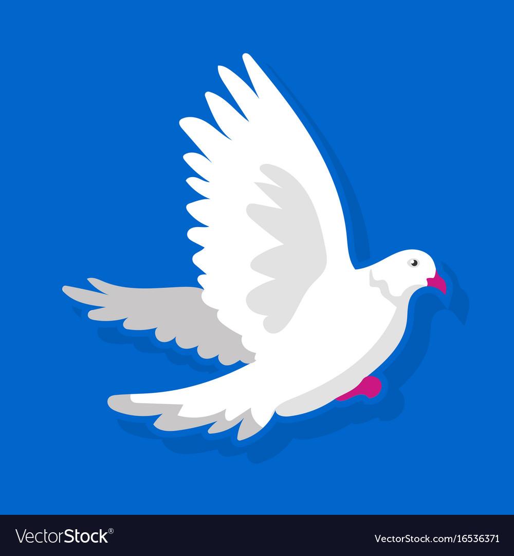 White bird flying vector image