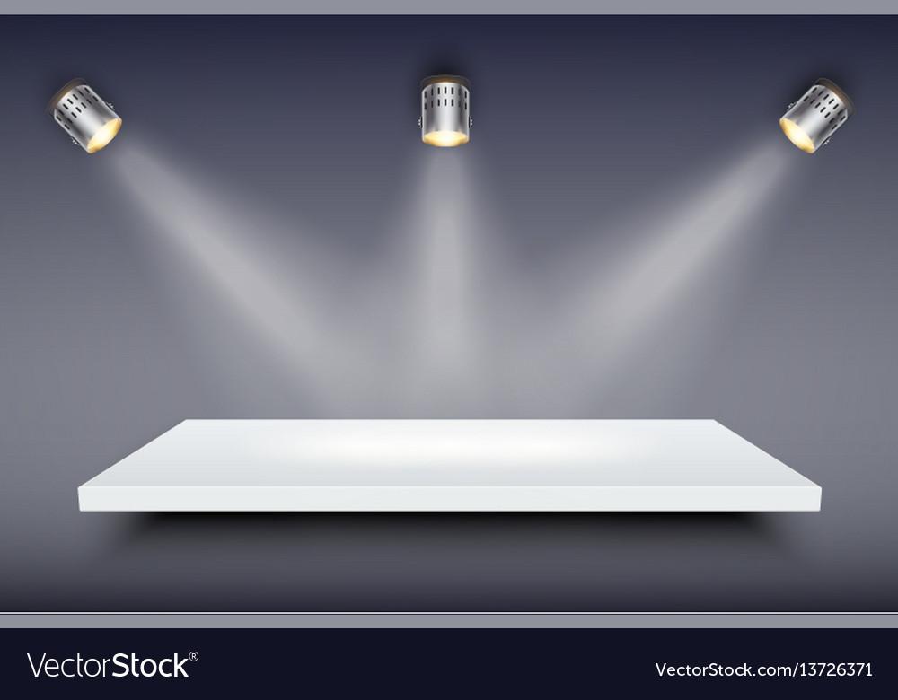 White presentation platform