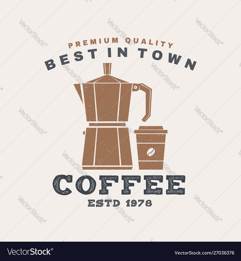 Best in town coffee retro badge design