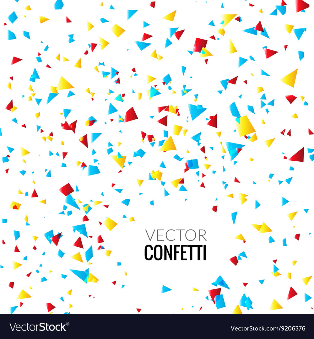 Colorful Confetti on White background Christmas