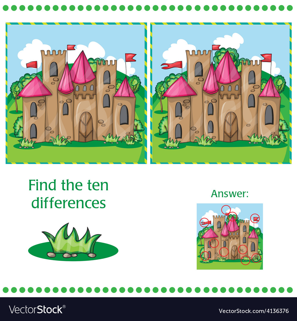 Find differences between the two images vector image