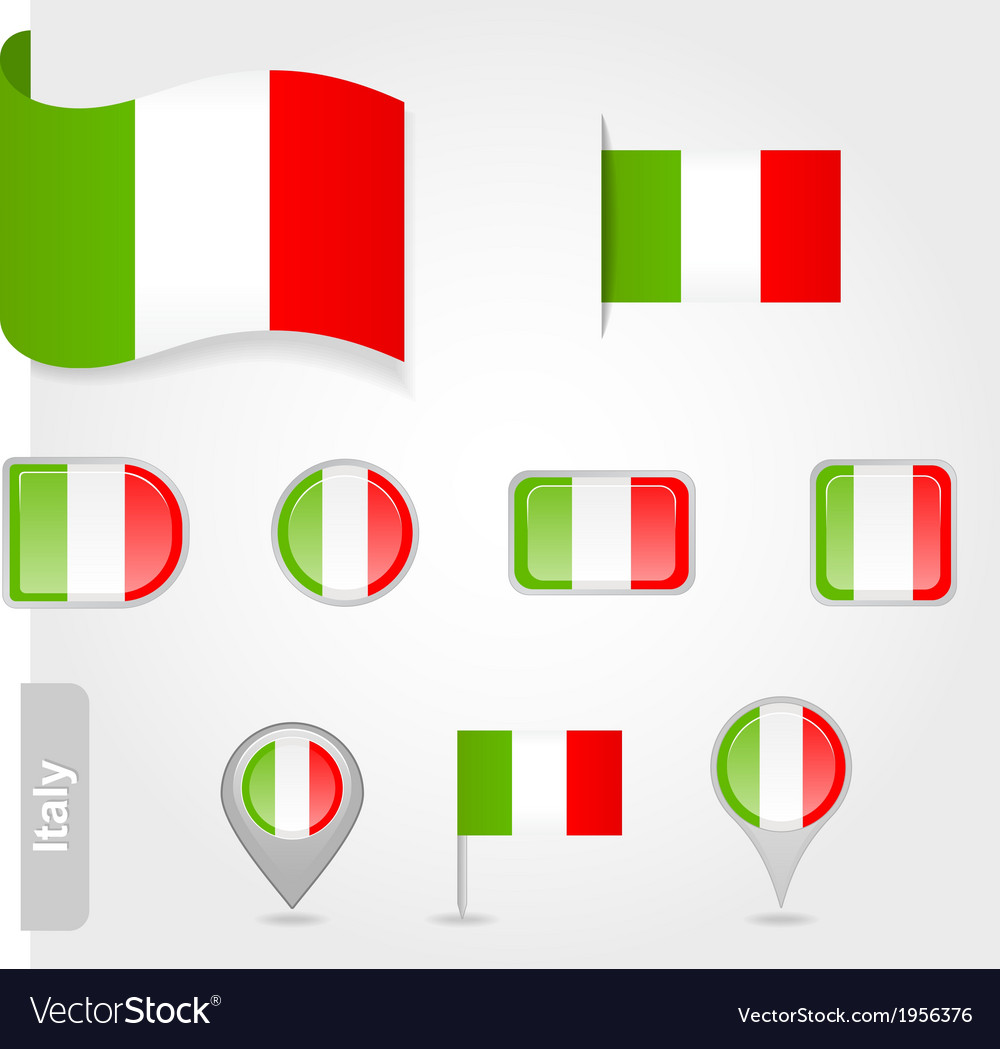 Italy flag icon set