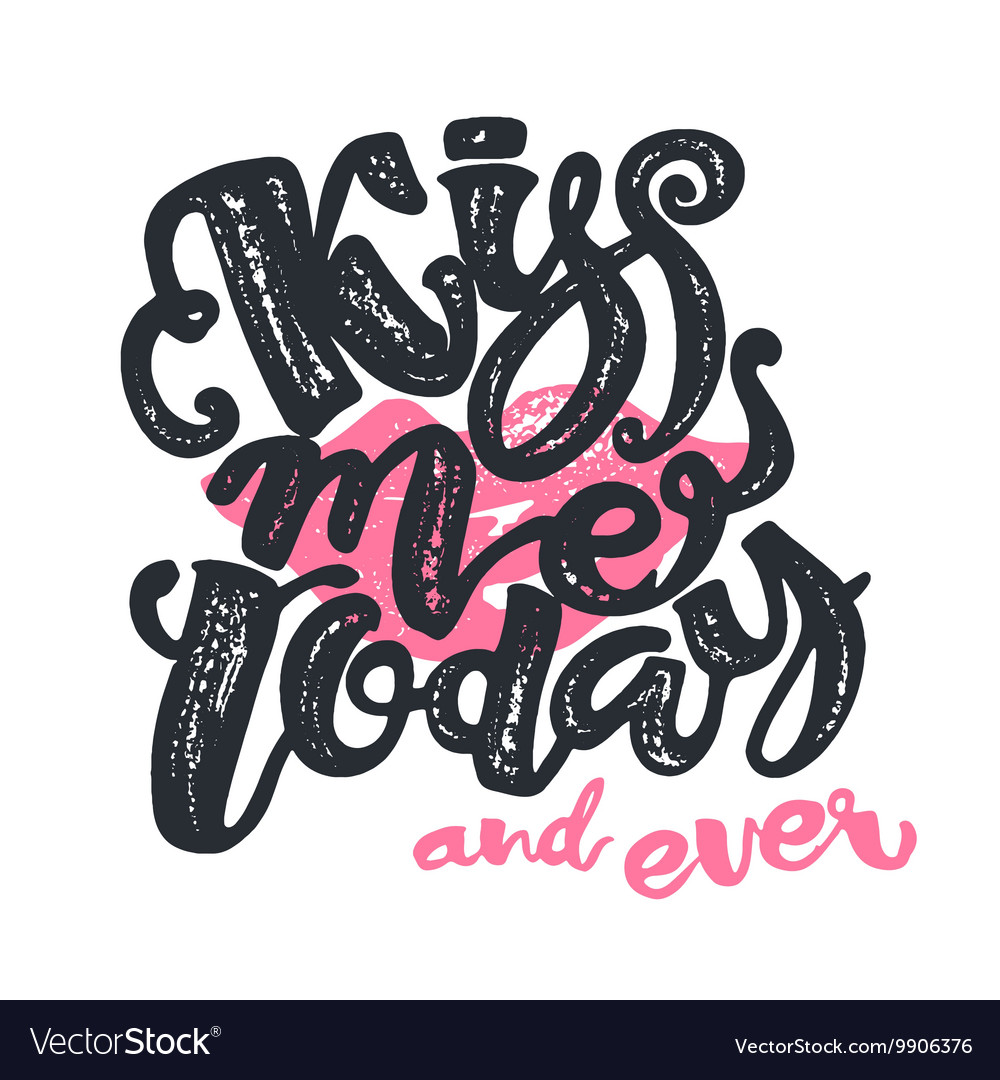 Kisses day lettering inspiration poster