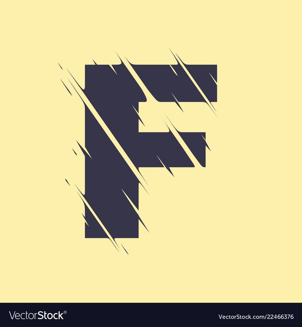 Scribbled letter f