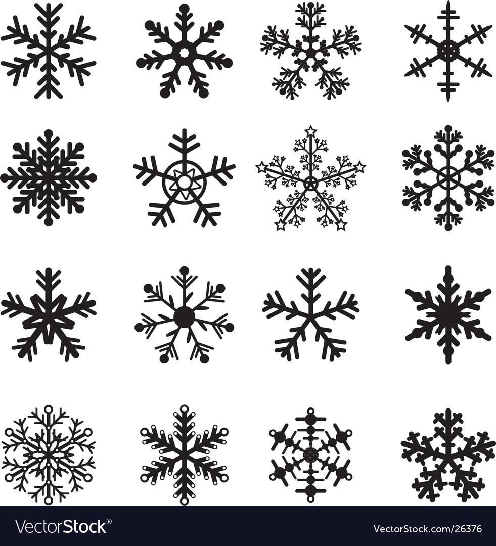 snowflakes royalty free vector image vectorstock rh vectorstock com snowflake vector graphics snowflake vector graphics