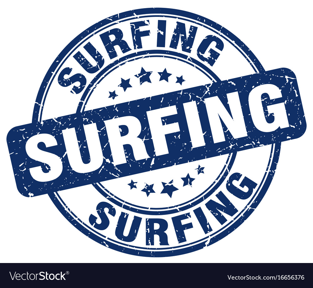 Surfing stamp vector image