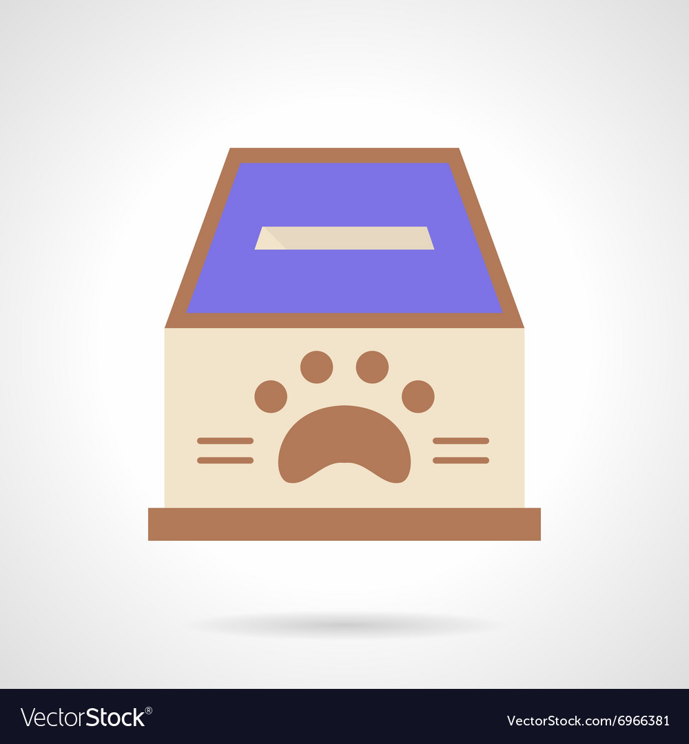 Animal shelter fundraising flat color icon