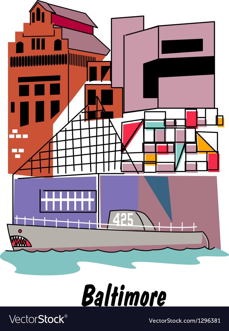 Baltimore vector image