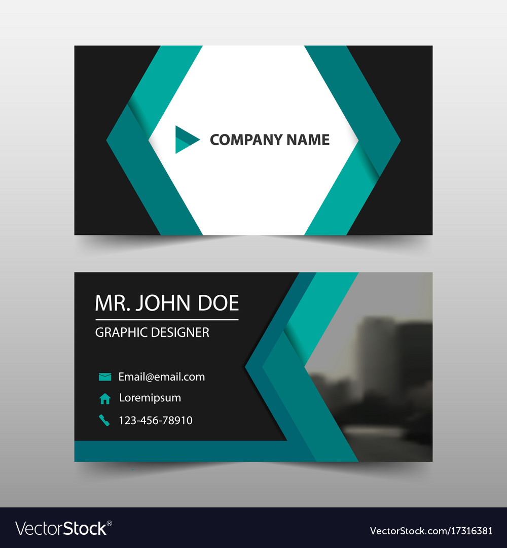 Green abstract corporate business card name card