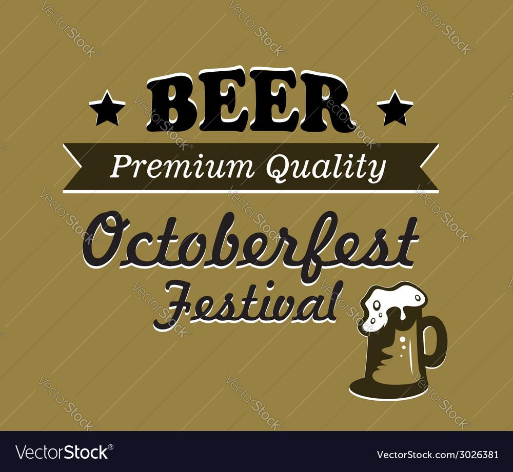 Oktoberfest Beer Poster Design Vector Image
